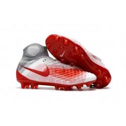 Scarpa da Calcio per Terreni duri Nike Magista Obra II FG Bianco Rosso