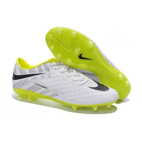 Nike Hypervenom Phantom FG ACC Neymar Scarpe da Calcetto Rifrangenti Bianco Nero