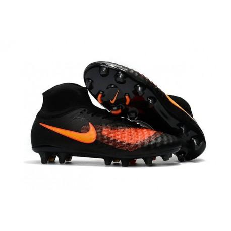 Nike Magista Obra 2 FG Nuove Scarpe da Calcio Nero Arancio