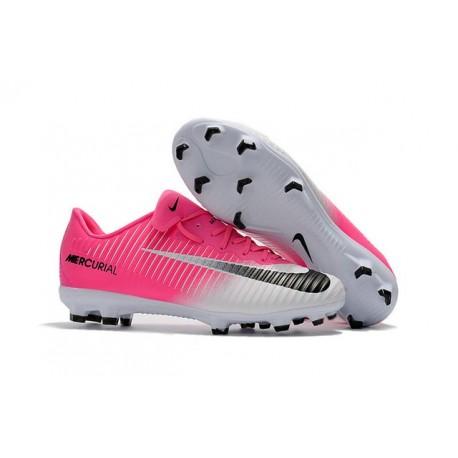 Nuovo Scarpa da Calcio Nike Mercurial Vapor 11 FG Rosa Bianco Nero