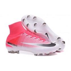 Nike Scarpa Calcio Uomo 2017 Mercurial Superfly V FG ACC Rosa Bianco Nero