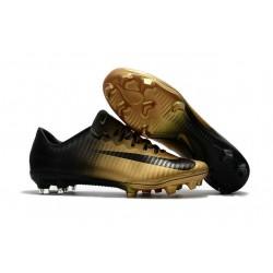 Nuovo Scarpa da Calcio Nike Mercurial Vapor 11 FG Nero Oro