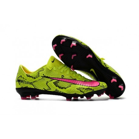 Nuovo Scarpa da Calcio Nike Mercurial Vapor 11 FG Giallo Rosa
