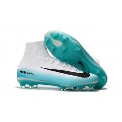 Nike Scarpa Calcio Uomo 2017 Mercurial Superfly V FG ACC Bianco Blu Nero