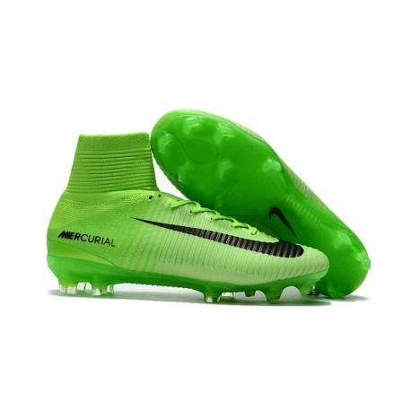 Nike Scarpa Calcio Uomo 2017 Mercurial Superfly V FG ACC Verde Nero 89ef11dfaca