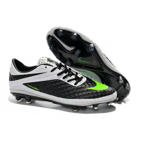 Nike Hypervenom Phantom FG ACC Uomo Scarpe da Calcetto Nero Bianco Verde