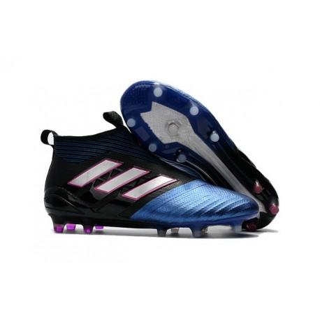 Scarpe da Calcio adidas Ace17+ Purecontrol FG Blu Nero Bianco
