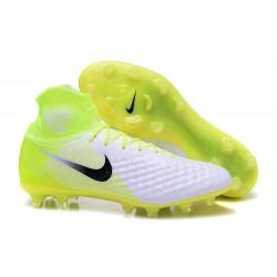 Nike Magista Obra 2 FG Nuove Scarpe da Calcio Bianco Nero Volt