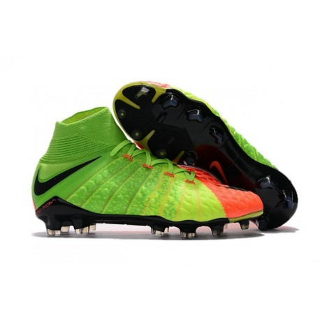 Nike Scarpe Calcio - Hypervenom Phantom III DF FG - Verde Arancio Nero
