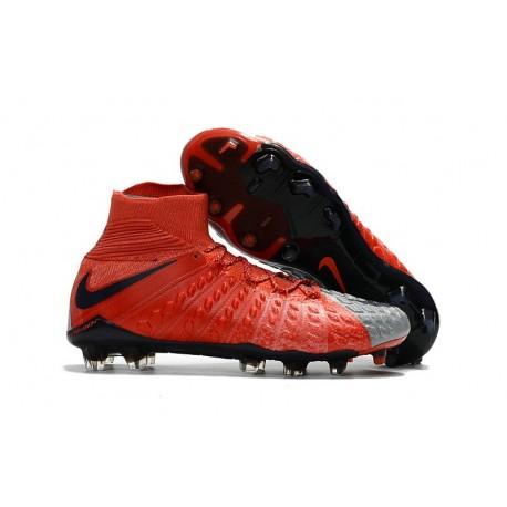 Nike Scarpe Calcio - Hypervenom Phantom III DF FG - Rosso Grigio