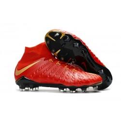 Nike Scarpe Calcio - Hypervenom Phantom III DF FG - Rosso Oro