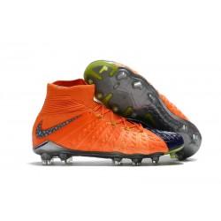 Nike Scarpe Calcio - Hypervenom Phantom III DF FG - Arancio Blu Nero