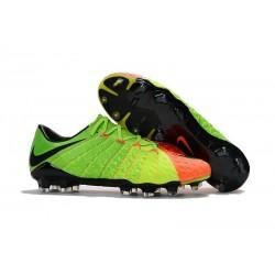 Scarpa da Calcio per Terreni Duri Nike Hypervenom Phantom III FG Verde Arancio Nero