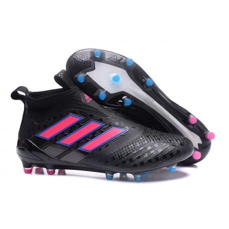 Scarpe da Calcio adidas Ace17+ Purecontrol FG Nero Rosa