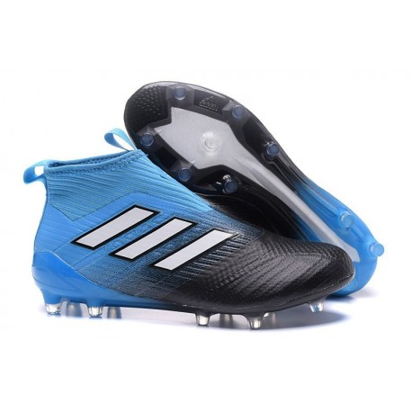 Scarpe da Calcio adidas Ace17+ Purecontrol FG Nero Blu