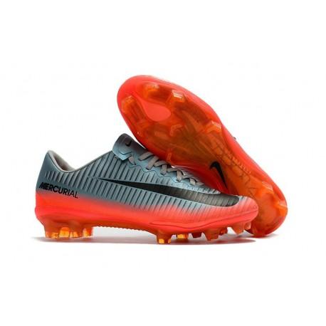 Nuovo Scarpa da Calcio Nike Mercurial Vapor 11 FG Grigio Arancio