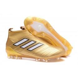 adidas Ace17+ Purecontrol FG - Nuovo Scarpa da Calcio Uomo Oro Bianco