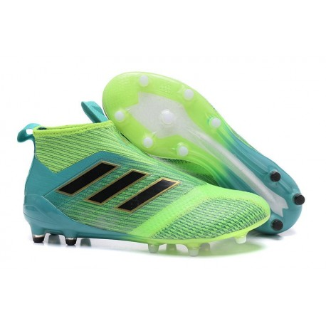 adidas Ace17+ Purecontrol FG - Nuovo Scarpa da Calcio Uomo Verde Blu