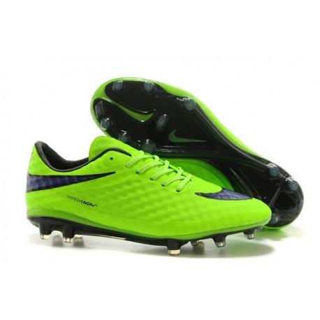 Neymar Nike Hypervenom Phantom FG Scarpe Da Calcio Verde Viola