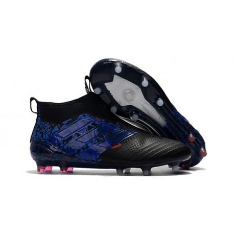 adidas Ace17+ Purecontrol Dragon FG - Nuovo Scarpa da Calcio Uomo - Nero Blu