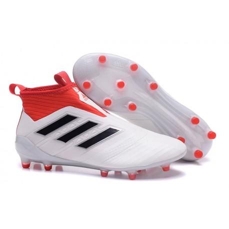 adidas Ace17+ Purecontrol FG - Nuovo Scarpa da Calcio Uomo Bianco Rosso Nero