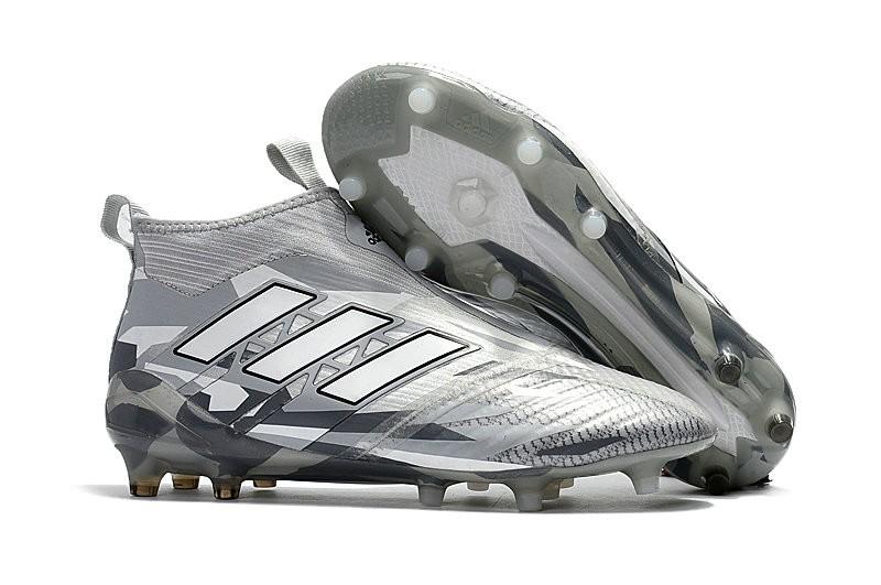 on sale d1380 0dd6c adidas Ace17+ Purecontrol FG - Nuovo Scarpa da Calcio Uomo - Grigio Bianco  Nero