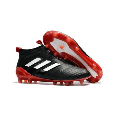 adidas Nuove Calcio Scarpa Ace17+ Purecontrol FG (Nero Bianco Rosso)
