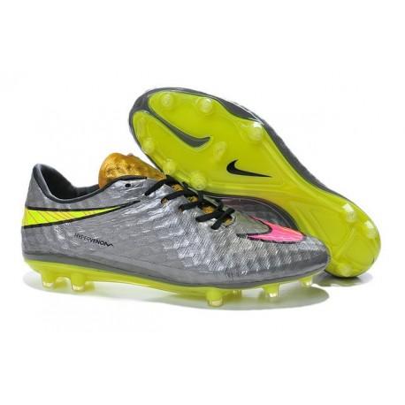 Neymar Nike Hypervenom Phantom FG Scarpe Da Calcio Cromo/ Rosa Hyper/ Oro