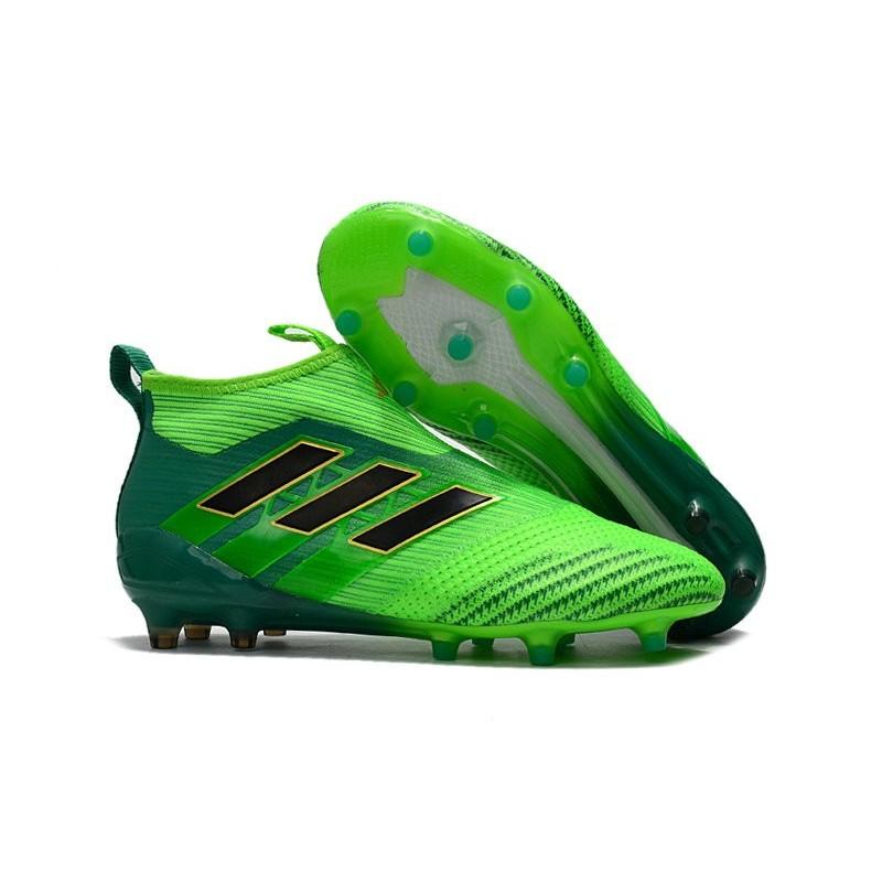 best service 6325e 33895 adidas Nuove Calcio Scarpa Ace17+ Purecontrol FG (Verde Nero)