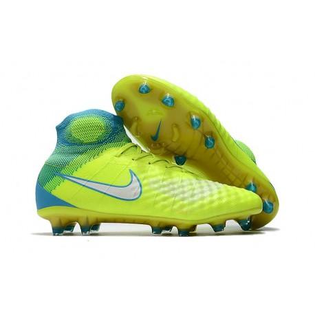 Nike Magista Obra 2 FG Nuove Scarpe da Calcio - Giallo Blu