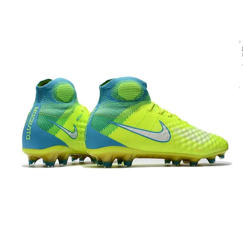 Nike Nuove Calcio Fg Obra Scarpe Giallo 2 Magista Blu Da BedCxor
