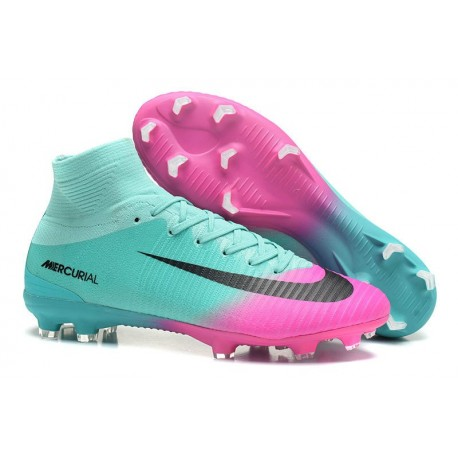 Nike Mercurial Superfly 5 FG Nuovo Scarpe Calcio Rosa Blu