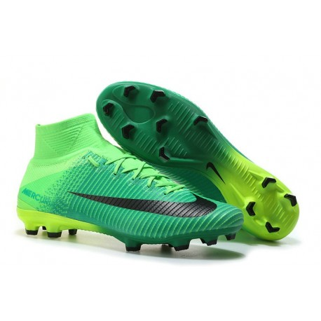 Nike Mercurial Superfly 5 FG Nuovo Scarpe Calcio Verde Nero