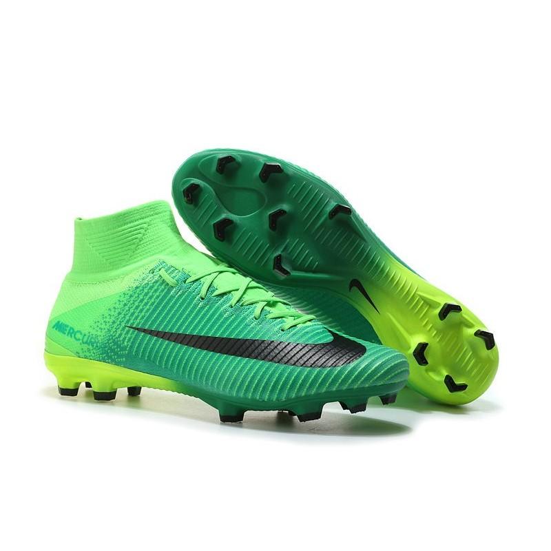 111d4e3666f72f Nike Mercurial Superfly 5 FG Nuovo Scarpe Calcio Verde Nero