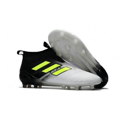 adidas Nuove Calcio Scarpa Ace17+ Purecontrol FG (Nero Bianco Jaune)