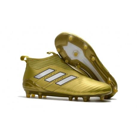 adidas Nuove Calcio Scarpa Ace17+ Purecontrol FG (Oro Bianco)