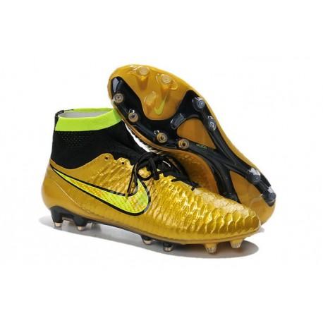 Scarpe da Calcio Uomo Nike Magista Obra FG Oro Volt Nero