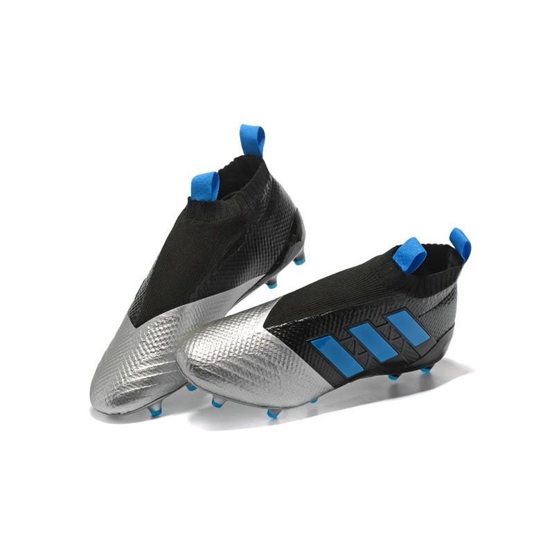 official photos 7bb19 fda77 adidas Nuove Calcio Scarpa Ace17+ Purecontrol FG (Nero Metallico Blu)