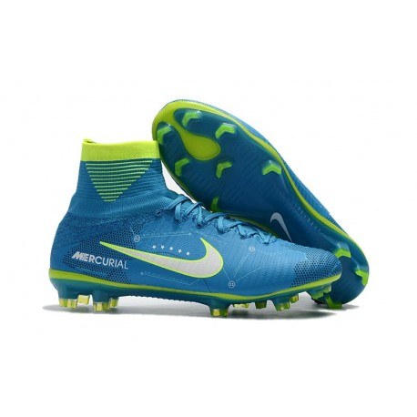 Nike 2017 Mercurial Superfly V FG ACC Neymar Scarpa Blu Bianco