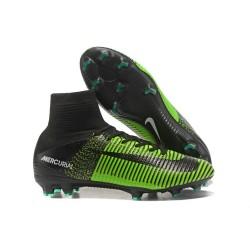 Nike 2017 Mercurial Superfly V FG ACC Uomo Scarpa Verde Nero