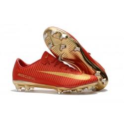 Nike Mercurial Vapor XI CR7 FG Scarpe Calcio Uomo - Rosso Oro
