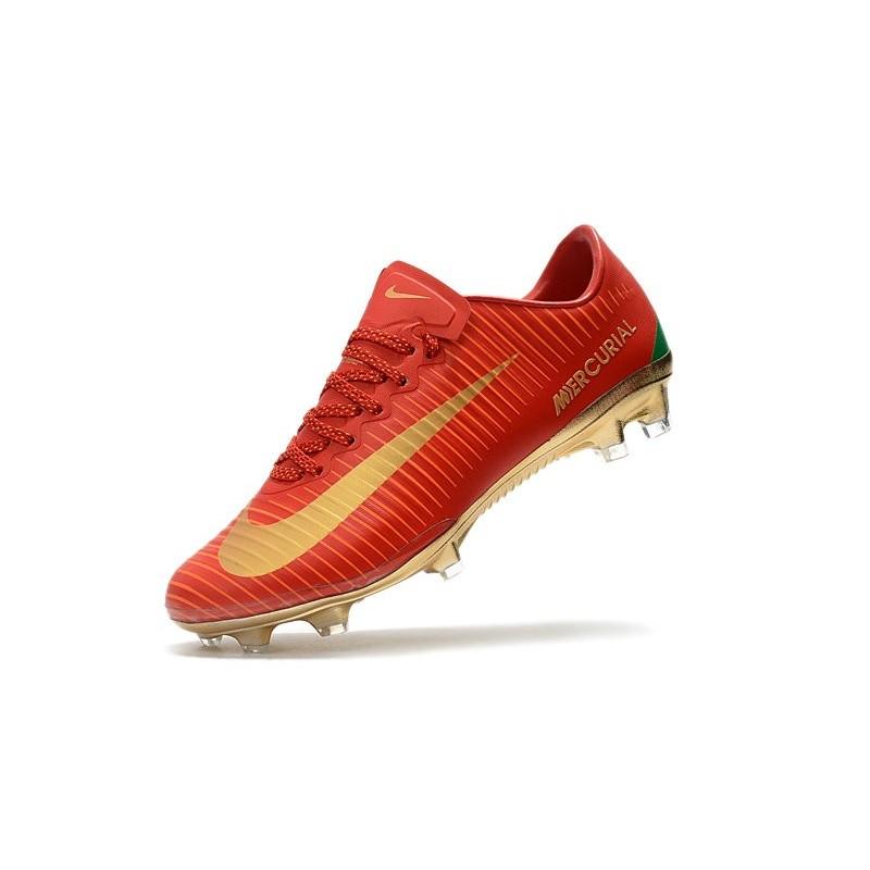 Scarpe Xi Calcio Nike Fg Vapor Uomo Cr7 Oro Mercurial Rosso 08PwXnOk