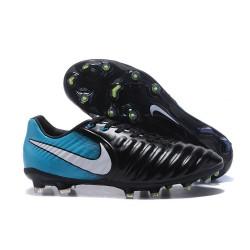 Nike Tiempo Legend 7 FG Pelle di Canguro Scarpa - Nero Blu