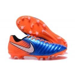 Nike Tiempo Legend 7 FG Pelle di Canguro Scarpa - Blu Arancio