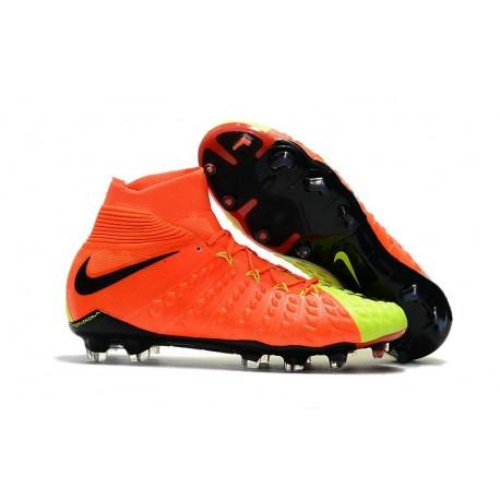Nike Scarpe Calcio Uomo Hypervenom Phantom 3 DF FG - Arancio Giallo
