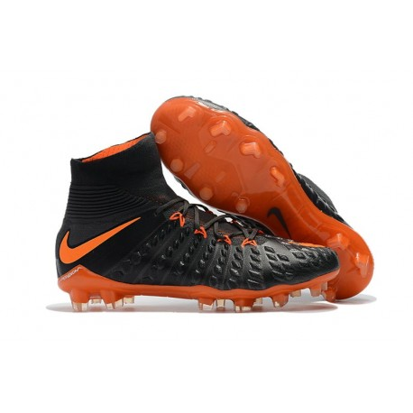 Nike Scarpe Calcio Uomo Hypervenom Phantom 3 DF FG - Nero Arancio