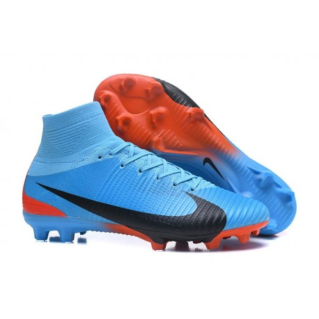Scarpe Calcio Nike Mercurial Superfly 5 FG Blu Nero