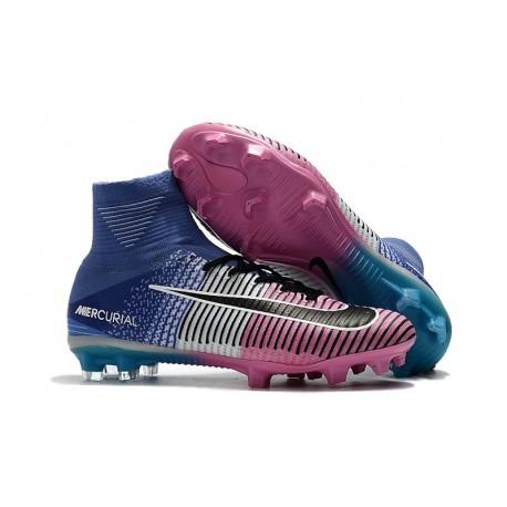 Scarpe Calcio Nike Mercurial Superfly 5 FG Blu Rosa Nero