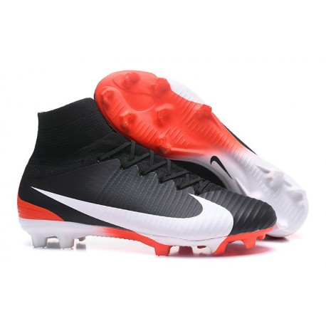 Scarpe Calcio Nike Mercurial Superfly 5 FG Nero Bianco