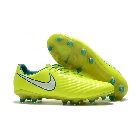 Scarpa da Calcio Nike Magista Opus II FG Terreni Uomo Giallo Bianco